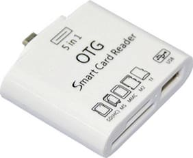 Multiland Sales 5 in 1 OTG USB 2.0 Micro Card Reader Connection for Android Mobile and Tab