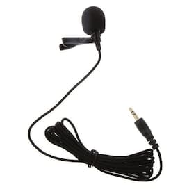 My Style Black Mini Lavalier Lapel Mic Microphone for PC Computer Laptop Gaming Sound Recording