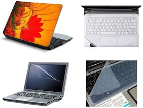Namo Arts 4in1 Laptop Accessories Combo -  Goddess Parvati Laptop Skins 15.6 Inch Stickers With Laptop TrackPad Skin , Laptop Screen Protector And Laptop KeyGuard For All Laptop - Notebook