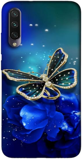 Mi A3 Silicone Back Cover By NCA SALER ( Blue )