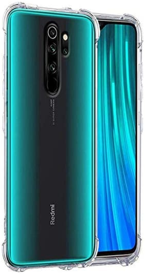 Redmi Note 8 Pro Silicone Back Cover By NCA SALER ( Transparent )