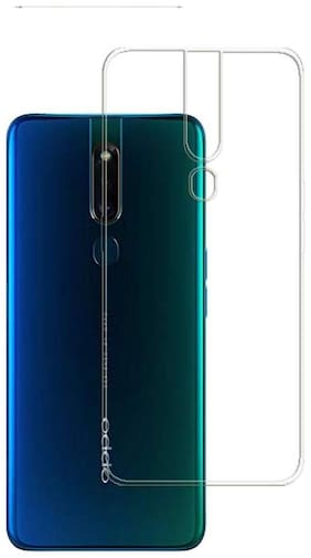 NCA SALER Silicone Back Cover For Oppo F11 Pro ( Transparent )