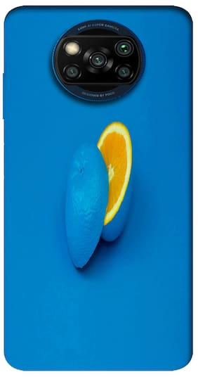 Poco X3 Silicone Back Cover By NCA SALER ( Blue )