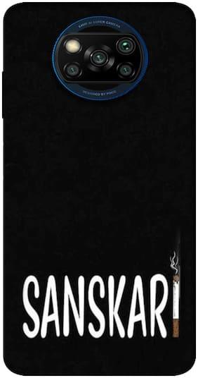 Poco X3 Silicone Back Cover By NCA SALER ( Black )