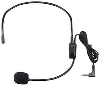 Neck Mic for Calling and Cordless Transmitter Wired Headset with Mic  (Black, Over the Ear)
