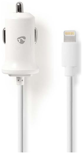 NEDIS 2.4 A Fast Charging Car Charger - 1 USB Port With 8 Pin (Lightning) Cable