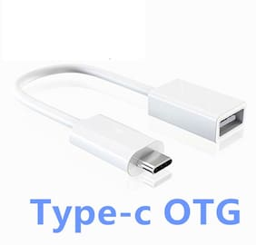 Neroedge OTG Cable Compatible For Mobiles White