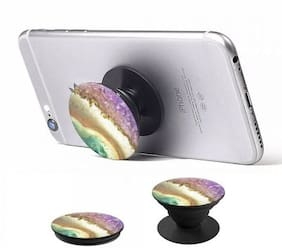 NEW & IMPROVED Pop Socket Expanding Stand and Grip for Smartphones and Tablets ( Assorted Colors and Designs )