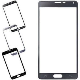 New Outer Front Touch Screen Glass Lens for Samsung Galaxy Note 4 (Black)
