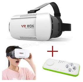 New VR BOX Virtual Reality 3D Glasses Phone+Wireless remote Controller GVR