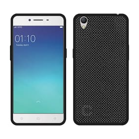 NFLIX Rubber Back Cover For Oppo F1 Plus ( Black )
