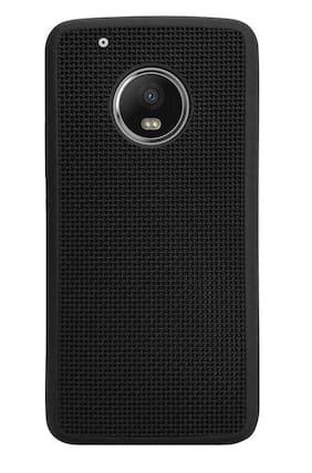 NFLIX Rubber Back Cover For Motorola Moto G5 Plus ( Black )