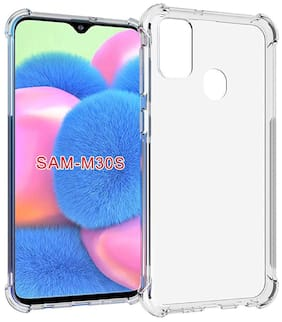 NFLIX Silicone Back Cover For Samsung Galaxy M30s ( Transparent )