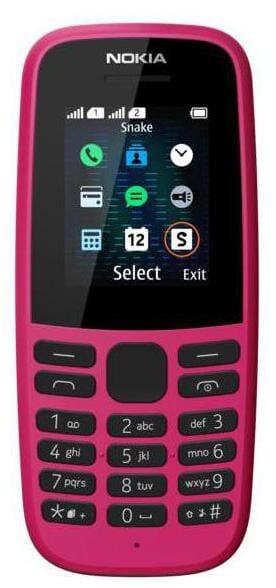 Nokia 105 Dual Sim Pink