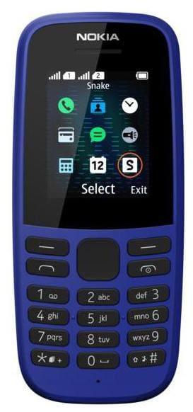 Nokia 105 Dual Sim (Blue)