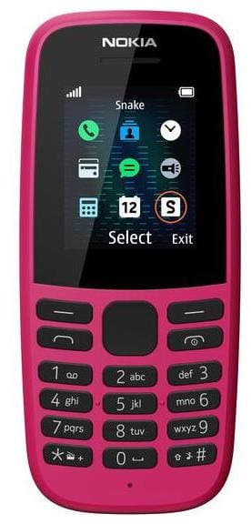 Nokia 105 Single Sim (Pink)