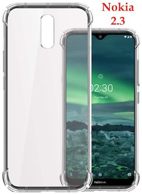 Nokia 2.3 - HD Clear Bumper Shockproof Corner Back Cover Transparent(Air Cushion Technology)