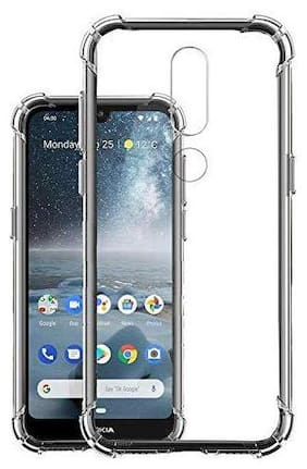 Nokia 4.2 Bumper Soft Case Back Cover Shockproof Corners with Air Cushion Technology In Transparent