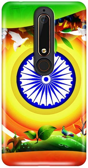 Nokia 6.1 Independence Day Special Transparent Silicon Back Cover