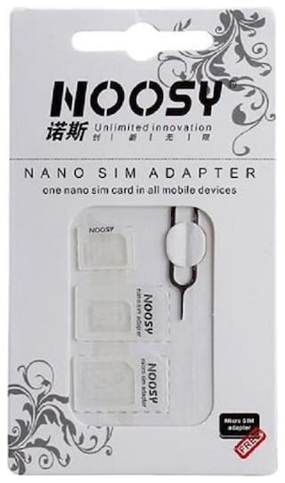 noosy sim adapter kit for nano micro supported smartphone with sim eject niddle