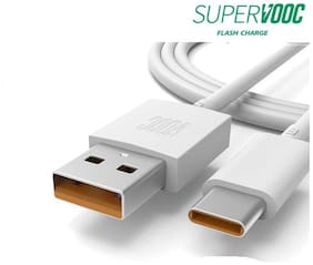 NORY VOOC Cable Data & Charging Micro USB Cable ( 1 m , White )