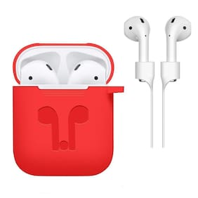 Nory Silicon Airpod Case For Apple Airpods (Red)