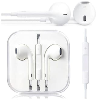 NRM In-Ear Wired Headphone ( White )