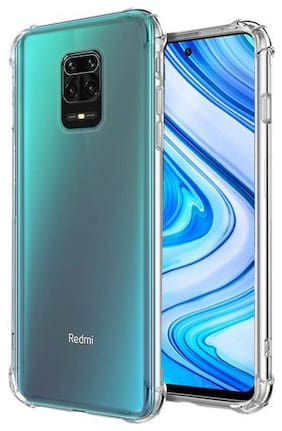 OFFERSONLY Silicone Back Cover For Redmi Note 9 Pro Max ( Transparent )