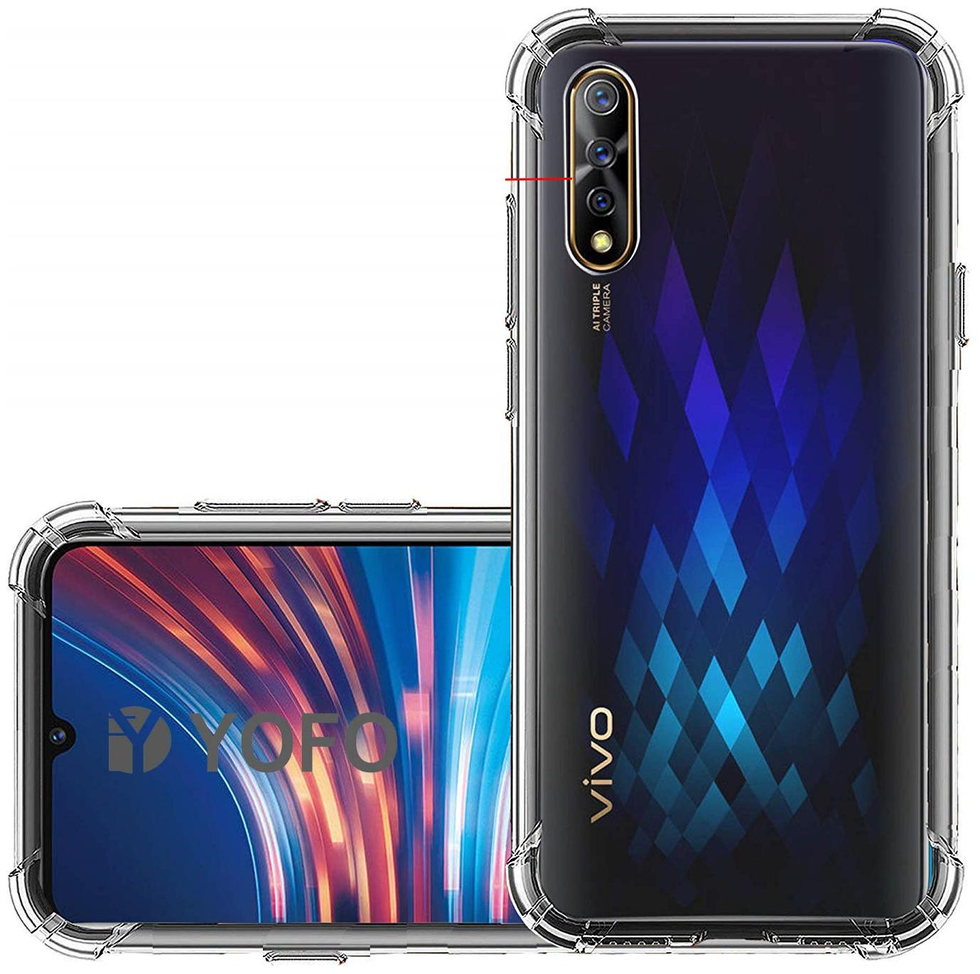 OFFERSONLY Silicone Back Cover For Vivo S1 ( Transparent )