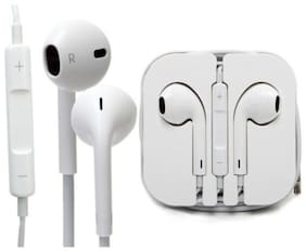 ONE94STORE Compatible 3.5 MM Jack Handsfree Iphone Premium Quality Excellent Bass Earphones For Redmi Note 8 (White)