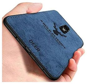 OnePlus 6T Fabric Back Cover By CREATIVO ( Blue )