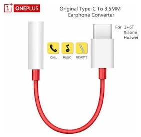OnePlus 6T Type C To 3.5mm Jack Earphone Adapter Aux Audio Cable USB C to 3.5mm
