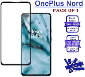 OnePlus Nord Edge to Edge, Full Glue 11D Tempered Glass (Pack of 1)