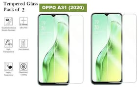 Oppo A31 Tempered Glass (Pack of 2)