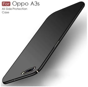 shopyholik Polycarbonate Back Cover For OPPO A3s ( Black )