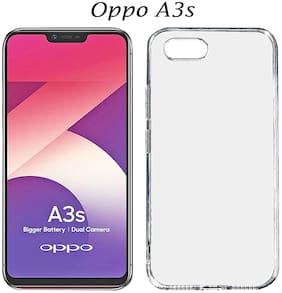 OPPO A3s - Flexible Back Cover In Transparent (Rubber & Silicone Gel Cover)- Oppo A3s