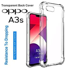 Oppo A3s - HD Clear Bumper Shockproof Corner Back Cover Transparent(Air Cushion Technology)