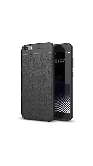 the latest 0f24f 48422 Oppo A57 Leather Pattern Soft Auto Focus Back Case Cover - Black