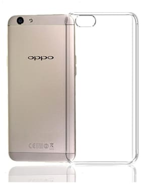 BIG CAT Rubber Back Cover For Oppo A57 ( Transparent )