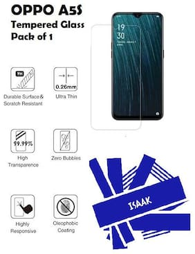 OPPO A5S Tempered Glass (Pack of 1)