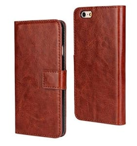 Oppo A83 Flip Cover Leather Case Premium( Brown)