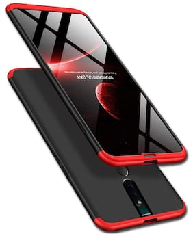 BACKLUND Polycarbonate Back Cover For Oppo F11 Pro ( Red )