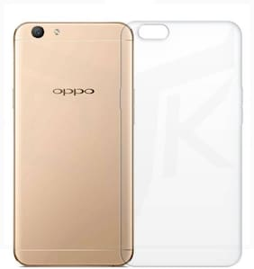 BIG CAT Rubber & Silicone Back Cover For OPPO F1s ( Transparent )