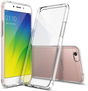 OFFERSONLY Silicone & Rubber Back Cover For OPPO F3 ( Transparent )