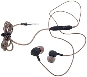 Mobality OPPO F9 In-ear Wired Headphone ( Brown )