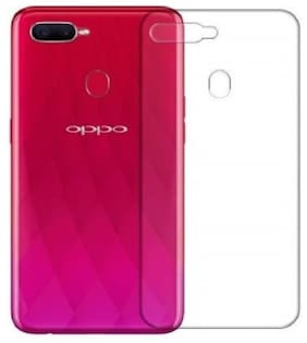 BIG CAT Silicone Back Cover For Oppo F9 Pro ( Transparent )