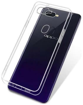 OFFERSONLY Rubber Back Cover For Oppo F9 Pro ( Transparent )