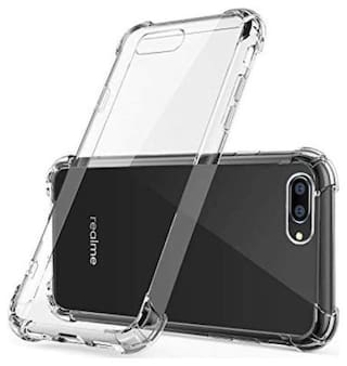 BIG CAT Rubber Back Cover For Realme C2 ( Transparent )