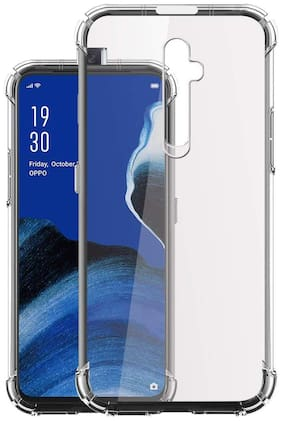 Oppo Reno 2F HD Clear Bumper Shockproof Corner Back Cover Transparent(Air Cushion Technology)