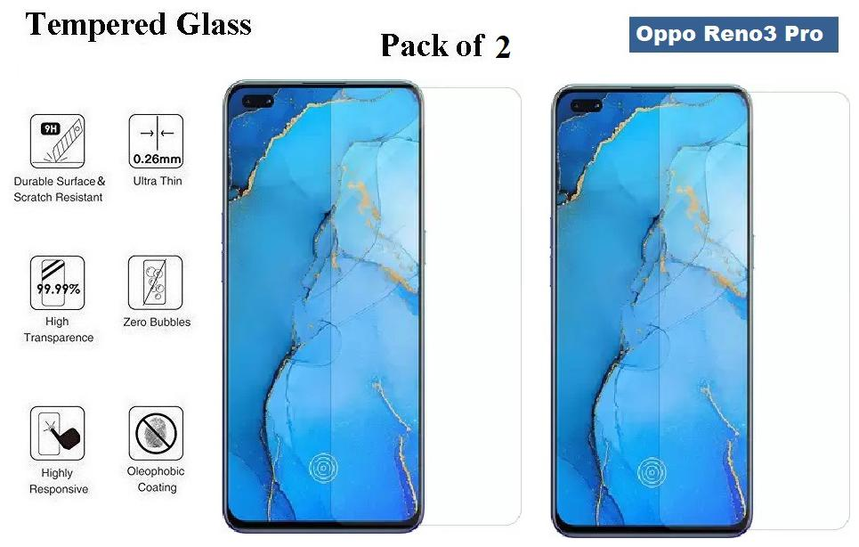 Oppo Reno3 Pro Tempered Glass (Pack of 2)